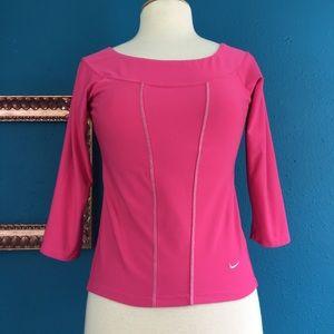 Nike Dri-Fit Pink Athletic Scoop Neck Top, M